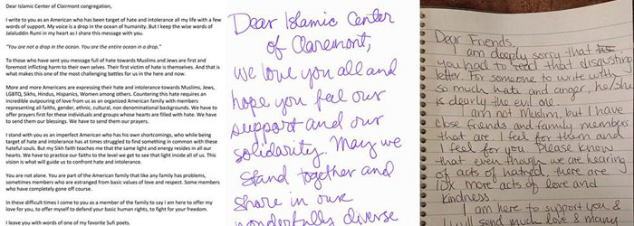 Students Collect Love Letters for the Muslim Community