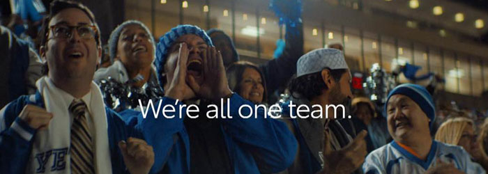 """Interfaith Super Bowl Ad Proclaims """"We're All One Team"""""""